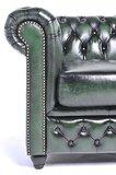 Chesterfield Bank Original Leer | 4-zits | Antiek Groen | 12 jaar garantie_