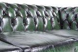 Chesterfield Bank Original Leer   3-zits   Antiek Groen   12 jaar garantie_
