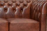 Chesterfield Bank Class Leer | 2-zits | Cloudy Brown Old | 12 jaar garantie_