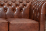Chesterfield Bank Class Leer | 3-zits | Cloudy Oud Bruin | 12 jaar garantie_