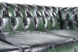 Chesterfield Original Antiek Groen 1 + 1 + 3 zits_