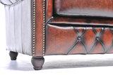 Chesterfield Original Antiek Bruin 2 + 3 zits_