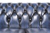 Chesterfield Original Antiek Blauw 1 + 2 + 3 zits_