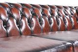 Chesterfield Bank Original Leer | 1 + 2 + 3 zits | Antiek Bruin| 12 jaar garantie_