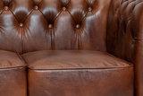 Chesterfield Bank  First Class Leer | 3-zits | Oud Bruin| 12 jaar garantie_