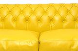 Chesterfield Bank Original Leer | 2 + 3 zits | Geel| 12 jaar garantie_
