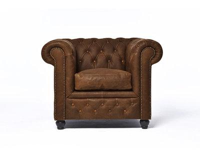 Chesterfield Fauteuil Vintage C0869 | 12 jaar garantie